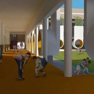 inner corridor of the primary block