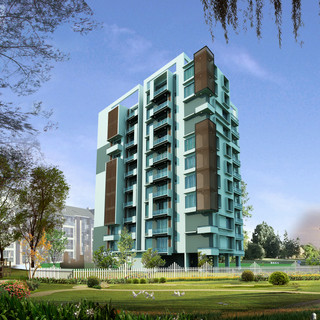 3D Visualization - 2bhk Tower - Day Render