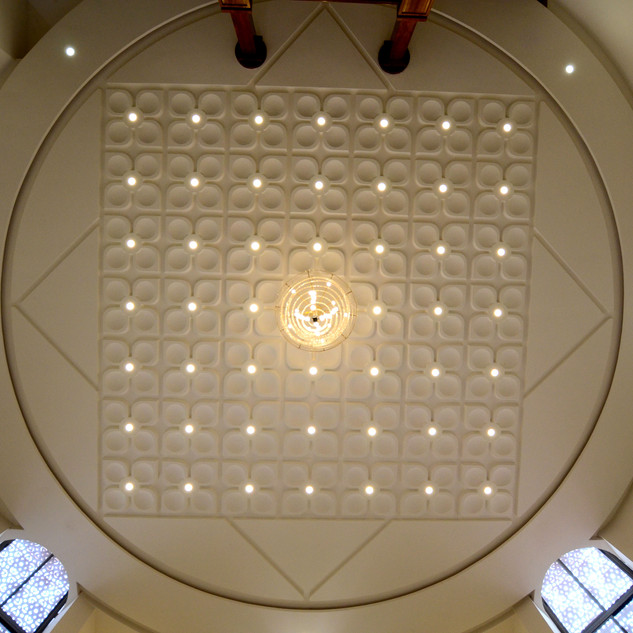 false ceiling in the entrance lobby