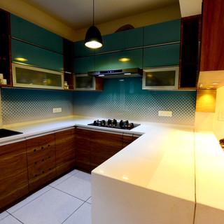 kitchen - composition of white quartz