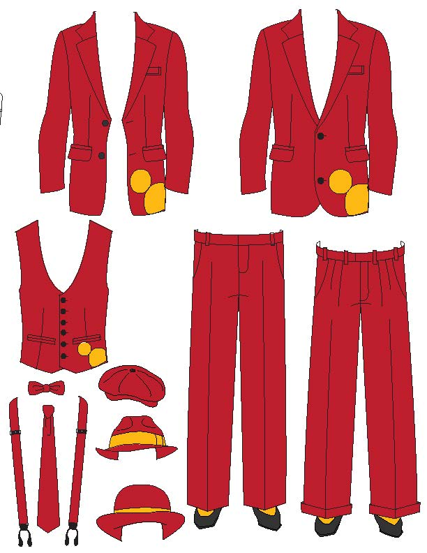 Disneyland Band Paper Doll Red