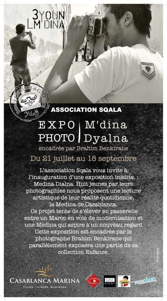 """Encadrement de l'exposition """"M'dina Dyalna"""" à la Sqala de Casablanca"""