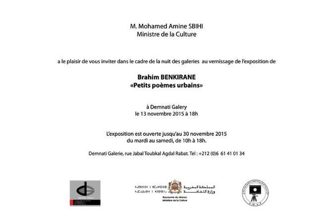 Exposé à la nuit des galeries de Rabat