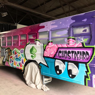 Dr. Sweet's Rainbow Diamond Bus