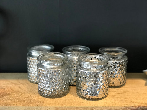 Pebbled Mercury Glass Votive