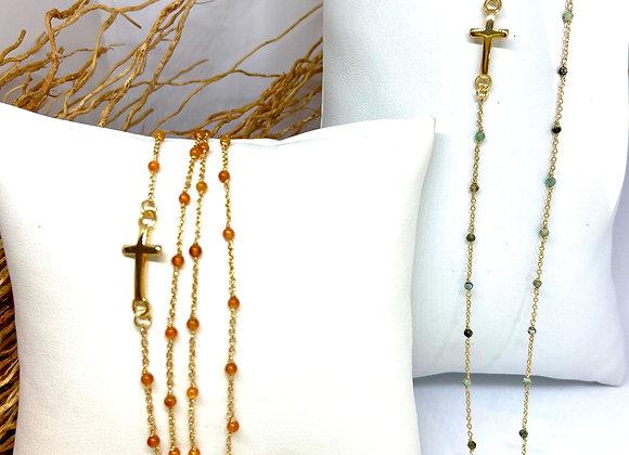 Sautoir Bracelet Félicité Croix