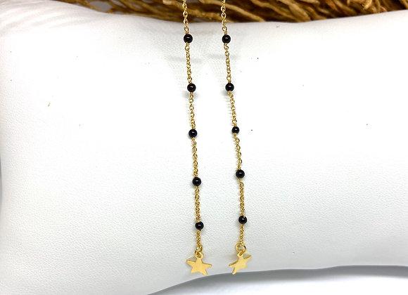 Boucles d'oreilles Infinity Onyx noir