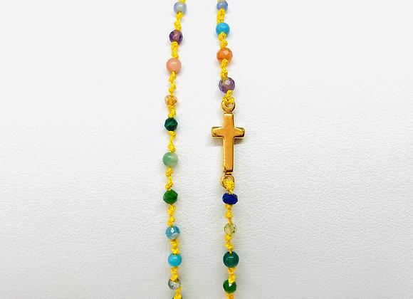 Bracelet Eternel croix Torino double