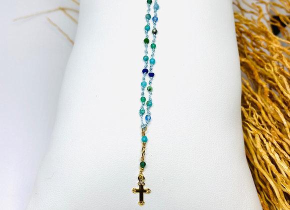 Collier Céleste croix Malaga