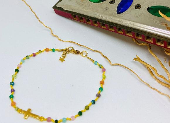 Bracelet Eternel croix Torino simple