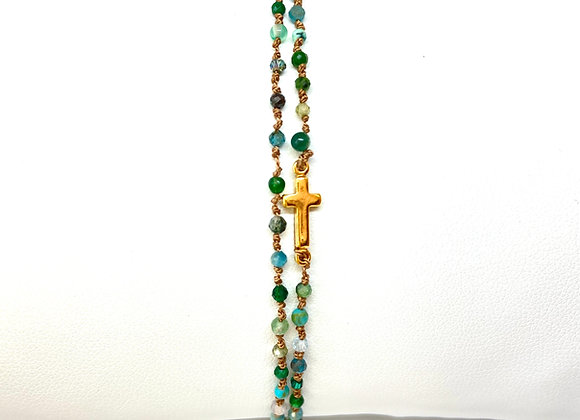 Bracelet Eternel croix Alassio double
