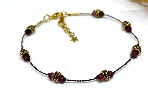 Bracelet Diwali Grenat