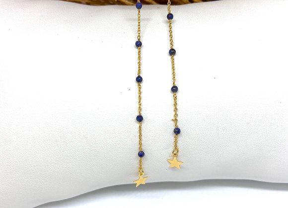 Boucles d'oreilles Infinity Lapis Lazuli