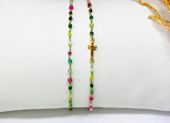 Bracelet Eternel croix Milano double