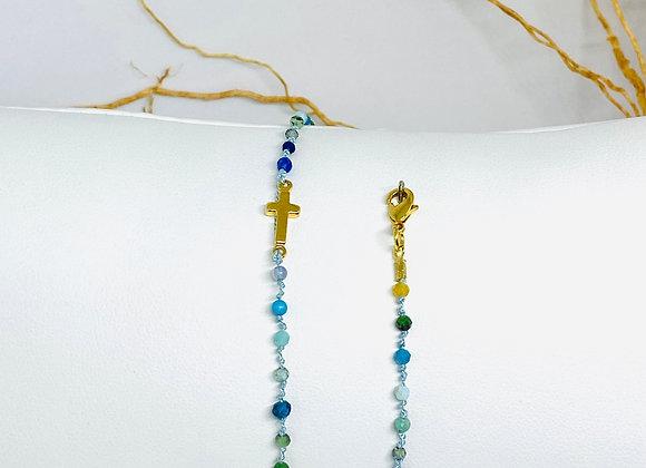 Bracelet Eternel croix Como double