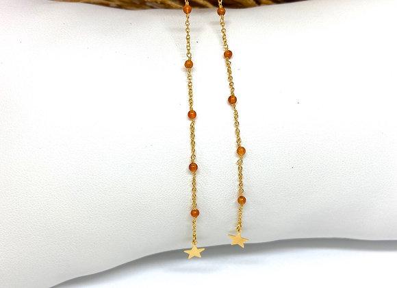 Boucles d'oreilles Infinity Cornaline