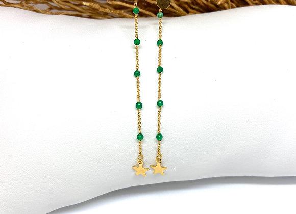 Boucles d'oreilles Infinity Onyx vert