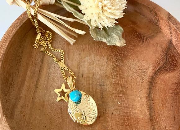 Collier Yogi Chakras Turquoise