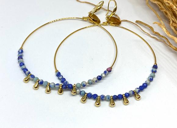 Créoles Etnic Agate bleue
