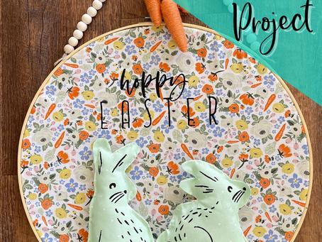 DIY Embroidery Hoop Door Hanger