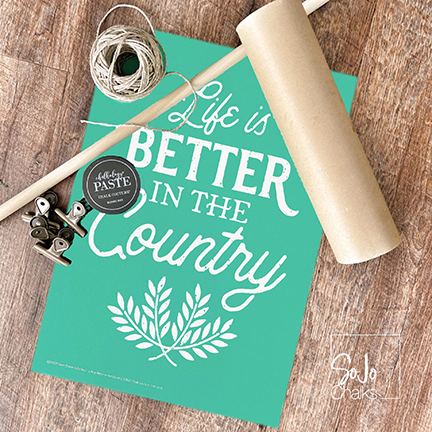 Farmhouse Paper Scroll Chalk Couture DIY Project | www.sojochalks.com