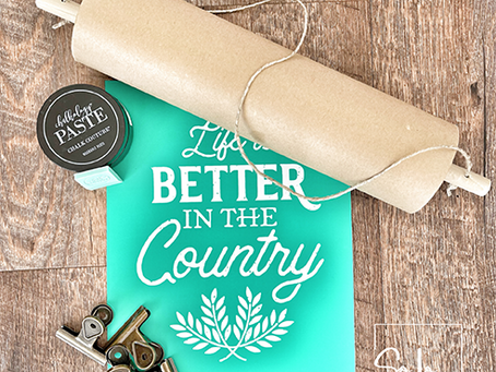 Farmhouse Paper Scroll DIY Project