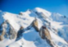 Aiguille du midi, le mont-blanc