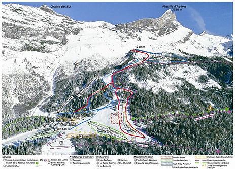 plan domaine skiable passy plaine-joux