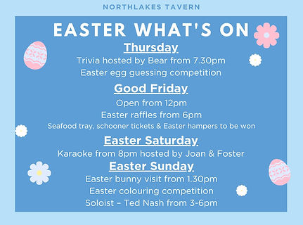 Northlakes - Easter - What's On till pos