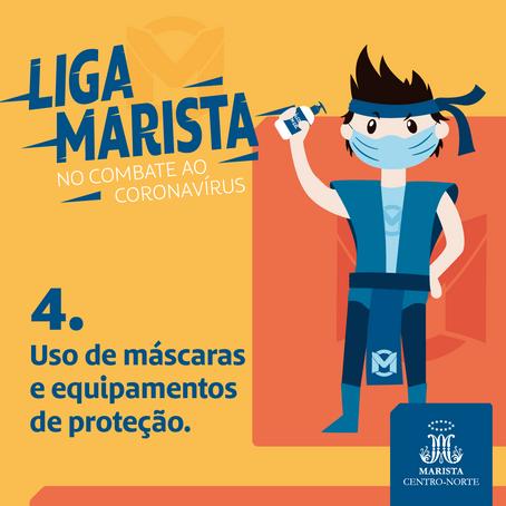 Colégios promovem campanha com super-heróis na volta às aulas presenciais.