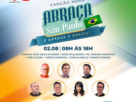 """""""Canção Nova Abraça São Paulo"""" poderá ser acompanhado pela TV e internet"""