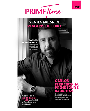 Live na PANROTAS inicia debate sobre viagens de luxo na retomada