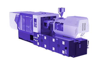 plastic injection molding purple transpa