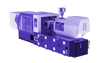 plastic injection molding purple transpa