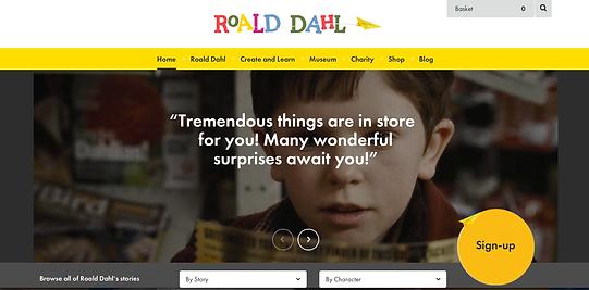 Cool Websites for Kids, Roald Dahl