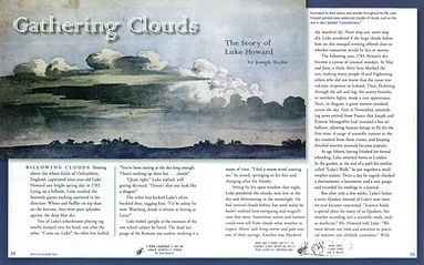 Luke Howard, Joseph Taylor, Cricket magazine, Gathering Clouds