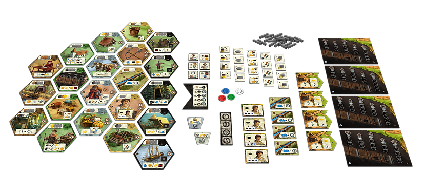 Haspelknecht: The Ruhr Valley - Game Components