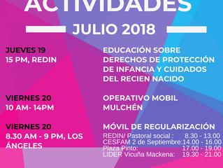 SEMANA DE ACTIVIDADES JULIO 2018