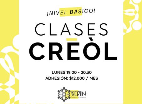 ¡ Te invitamos a participar de nuestro primer curso de Creól !