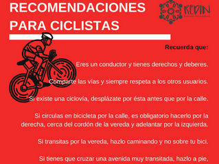 Recomendaciones para ciclistas