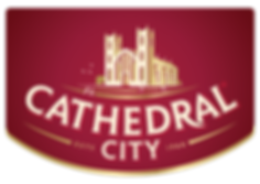 Cathedral City Logo with holding device.