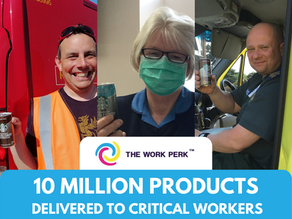 The Work Perk Distribute Over 2 Million Products to Critical Workers!