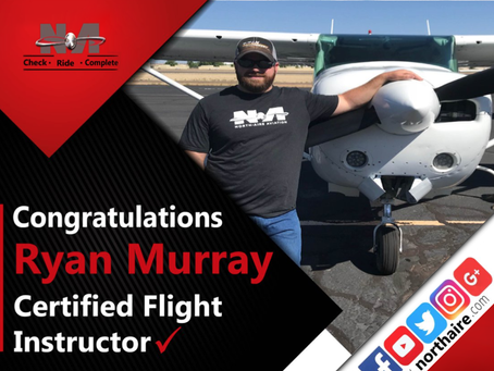 Ryan Murry Earns His CFI – Certified Flight Instructor