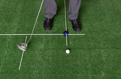 Putting with the short Guide rod set for Putter Backstroke distance