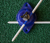 The Golf Puck is designed so that the Alignment Guide Rods can be set at different angles to each other