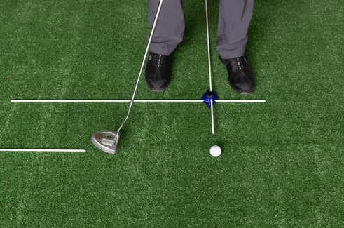 Using the 1-Golf Puck system for Putting