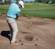 How to hit out of sand trap with an open stance and open clubface angle to hit the ball higher and stop it quicker