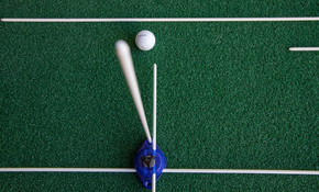 Using a Vertical Alignment Guide Rod with 4 Puck Putting setup