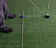 Down-The-Line View with off the Toe ball alignment