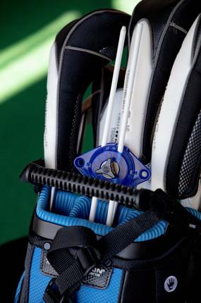 1 Golf Puck in golf bag